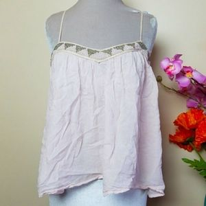 American Eagle Outfitters Beaded Boho Tank Top